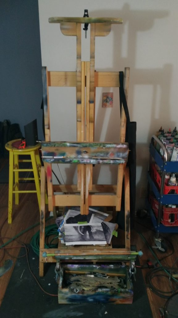 easel after